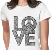 Checkered LOVE=Peace Womens Fitted T-Shirt