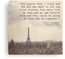 Hemingway in Paris Canvas Print