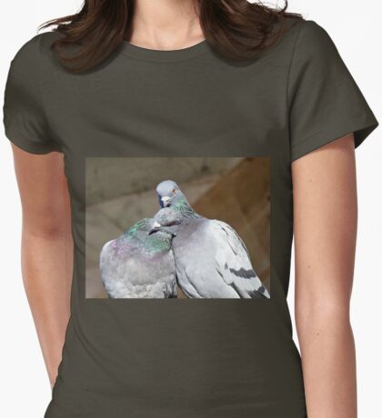 Love Is... Rock Pigeons Womens Fitted T-Shirt