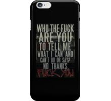 Motionless In White - Fuck You iPhone Case/Skin