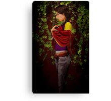 A Woman Waiting Canvas Print