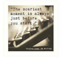 The Scariest Moment Art Print