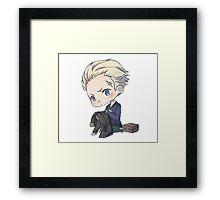 Kanji Tatsumi Chibi - Persona 4 Framed Print
