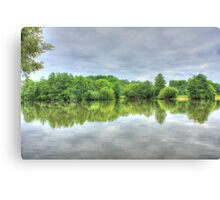 Cloudy Reflection HDR Canvas Print