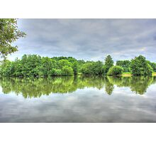 Cloudy Reflection HDR Photographic Print