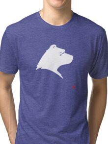 Polar Bear Silhouette Portrait Tri-blend T-Shirt