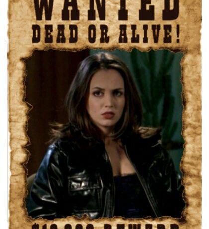 Buffy Faith Wanted Eliza Dushku Sticker