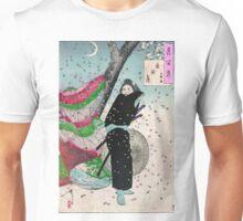 Moon Over Shinobugaoka - Yoshitoshi Taiso - 1880 - woodcut Unisex T-Shirt