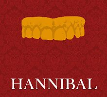 Dr. Hannibal Lecter  2-colored poster [Red/Gold] by QueenOfMischief