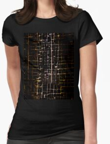 Cracked Grunge Texture Womens Fitted T-Shirt