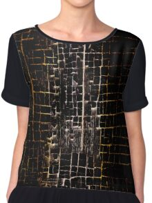 Cracked Grunge Texture Chiffon Top