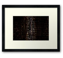 Cracked Grunge Texture Framed Print