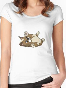 Content kitten Women's Fitted Scoop T-Shirt