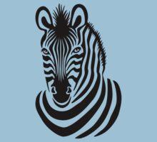 Smiling Zebra One Piece - Short Sleeve