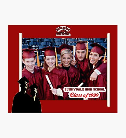 Buffy Graduation Cast Photographic Print