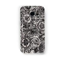 Black Flower Pattern 3 Samsung Galaxy Case/Skin