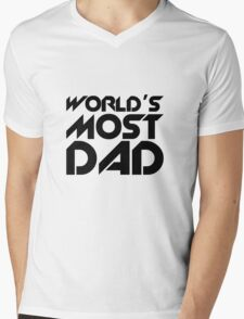 World's most dad Mens V-Neck T-Shirt