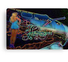 Neon Sentimental Journey Photo Print Canvas Print