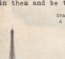Hemingway in Paris Sticker