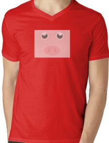Look how cute this pig is Mens V-Neck T-Shirt