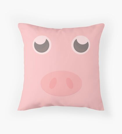 Look how cute this pig is Throw Pillow