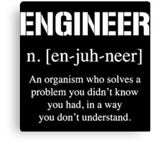 Definition of Engineer Canvas Print