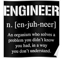 Definition of Engineer Poster