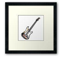 Supernatural Guitar Dean Eye Of The Tiger Framed Print