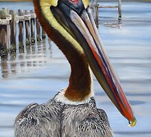 Pass Christian Pelican by Phyllis Beiser