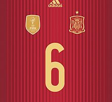 World Cup 2014 - Spain Iniesta Shirt Style by Diego Tirigall