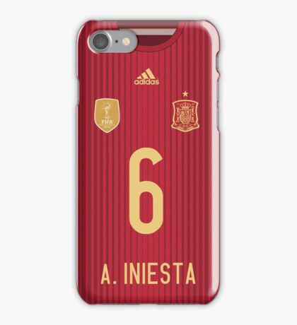 World Cup 2014 - Spain Iniesta Shirt Style iPhone Case/Skin
