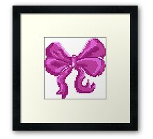 Pretty Pixel Bow Framed Print