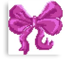 Pretty Pixel Bow Canvas Print