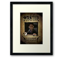 Angel Puppet Smile Time Buffy Wanted Framed Print