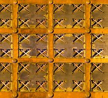 Old metal and wood medieval background by Bruno Beach