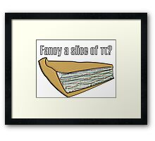Slice of Pi Framed Print
