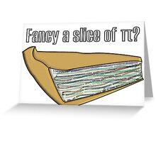 Slice of Pi Greeting Card