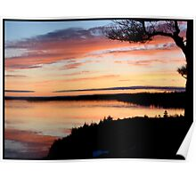 Winter Sunset on the Bras d'Or Poster