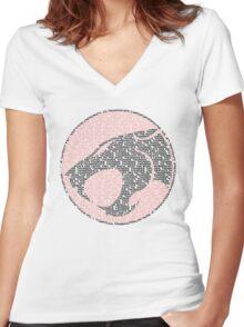 Thunder-tee-Cats ho!  Women's Fitted V-Neck T-Shirt