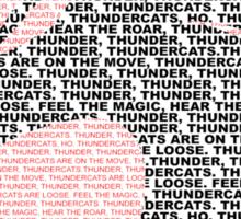 Thunder-tee-Cats ho!  Sticker
