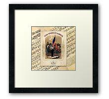 The Star Spangled Banner Vintage Song Sheet Framed Print