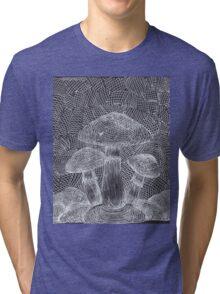 Trippy Mushroom Tri-blend T-Shirt
