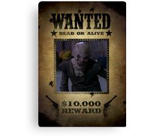 Buffy Ubervamp Vampire Wanted Canvas Print