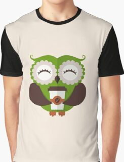 Funny owl who loves coffee. Graphic T-Shirt