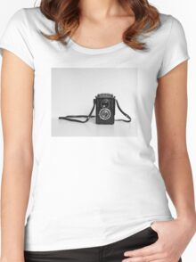 Vintage Lubitel Camera Women's Fitted Scoop T-Shirt