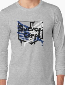Spray-Painted Survey Corps Long Sleeve T-Shirt