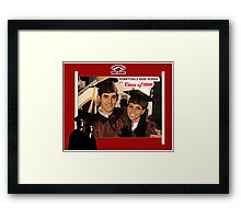 Buffy Graduation Xander and Cordelia Framed Print