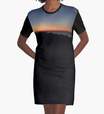 Sunset glory Graphic T-Shirt Dress