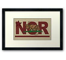 Fallout 2 NCR flag Framed Print