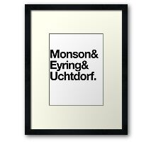 First Presidency in Helvetica. Framed Print